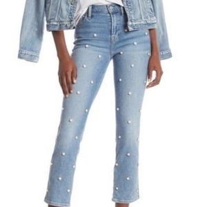 7 for All mankind pearl studded Jeans